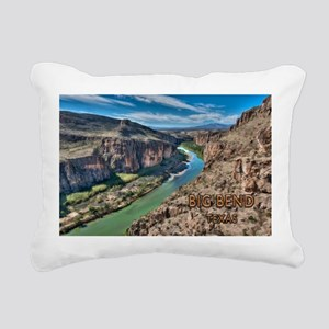 Cliff View of Big Bend T Rectangular Canvas Pillow