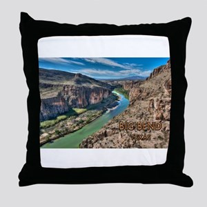 Cliff View of Big Bend Texas National Throw Pillow