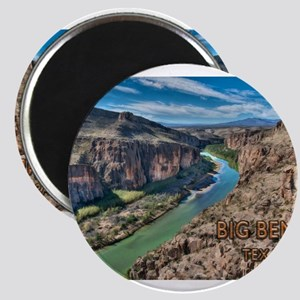 Cliff View of Big Bend Texas National Park Magnets