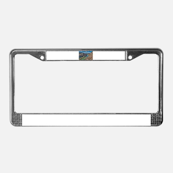 Cliff View of Big Bend Texas N License Plate Frame