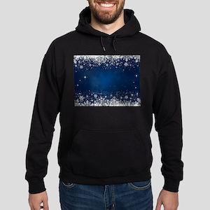 Decorative Blue Winter Christmas Sno Hoodie (dark)