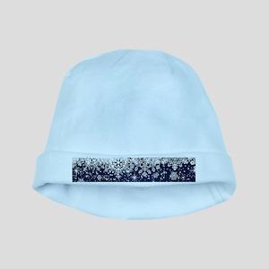 Decorative Blue Winter Christmas Snowflak baby hat