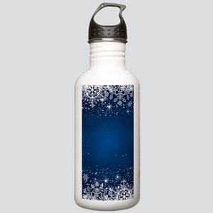 Decorative Blue Winter Stainless Water Bottle 1.0L