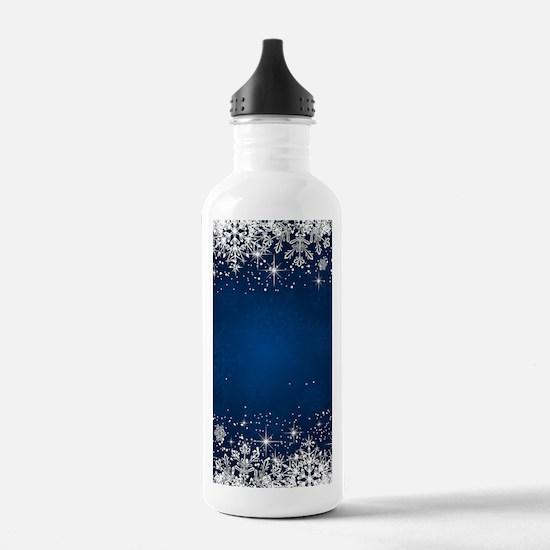 Decorative Blue Winter Water Bottle