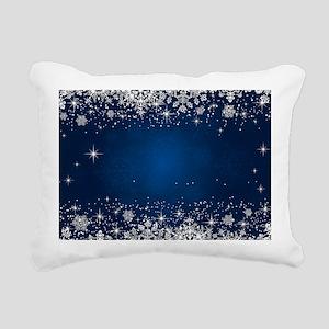 Decorative Blue Winter C Rectangular Canvas Pillow