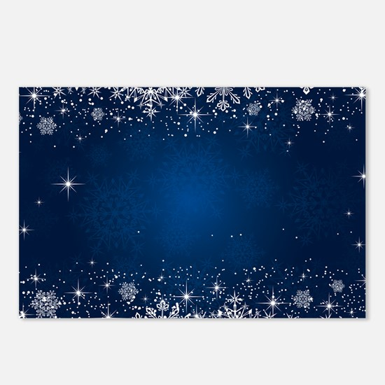 Decorative Blue Winter Ch Postcards (Package of 8)