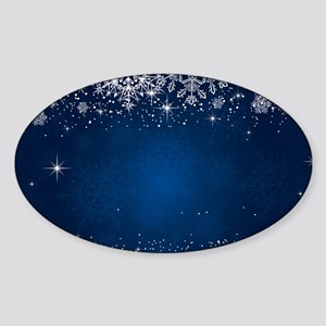 Decorative Blue Winter Christmas Snowflake Sticker