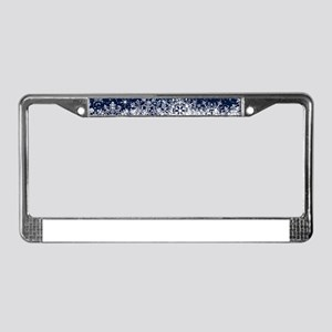 Decorative Blue Winter Christm License Plate Frame