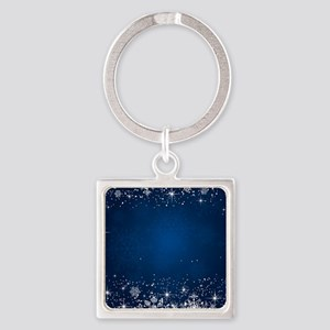 Decorative Blue Winter Christmas Snowfla Keychains