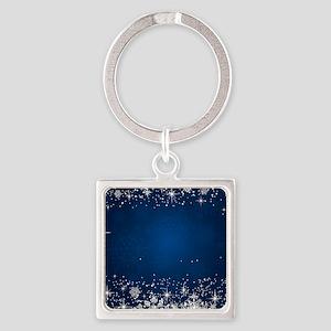 Decorative Blue Winter Christmas Snowfla Keychains