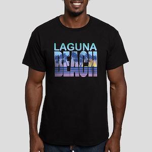 Laguna Beach Men's Fitted T-Shirt (dark)