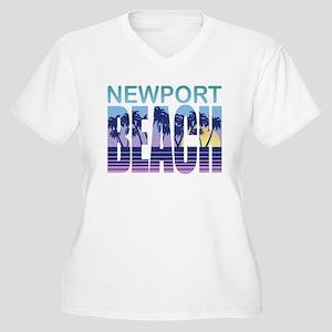 Newport Beach Women's Plus Size V-Neck T-Shirt