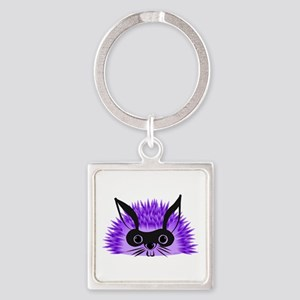 Redgy Hedgehog, Wild Hare! Square Keychain