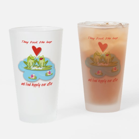 Hoppily Ever After Drinking Glass