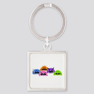 Prickle Party Square Keychain