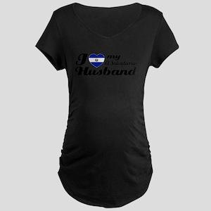I love my El Salvadorian Husband Maternity T-Shirt
