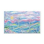 Pastel Country A (Enc) Rectangle Car Magnet