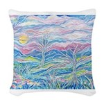 Pastel Country A (Enc) Woven Throw Pillow