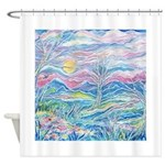 Pastel Country A (enc) Shower Curtain
