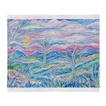 Pastel Country A (Enc) Throw Blanket