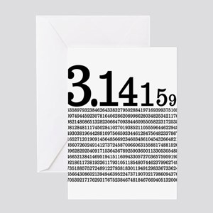 3.1415926 Pi Greeting Cards
