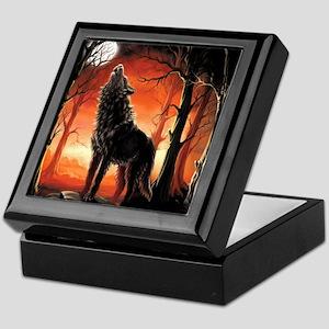 Howling Wolf Keepsake Box
