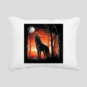Howling Wolf Rectangular Canvas Pillow