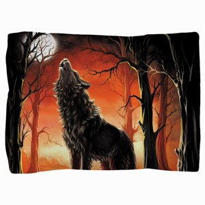 Howling Wolf Pillow Sham