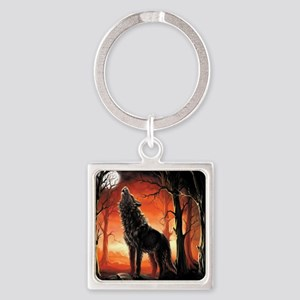 Howling Wolf Keychains