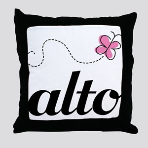 Cute Alto Music Throw Pillow