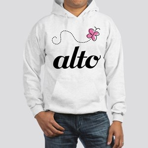 Cute Alto Music Hooded Sweatshirt