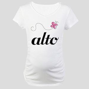 Cute Alto Music Maternity T-Shirt