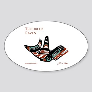 The Third Killer Whale Oval Sticker