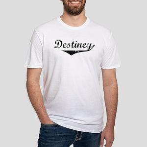 Destiney Vintage (Black) Fitted T-Shirt