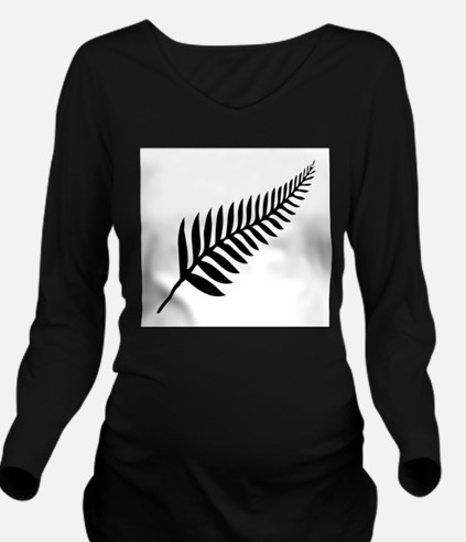 Silver Fern of New Z Long Sleeve Maternity T-Shirt