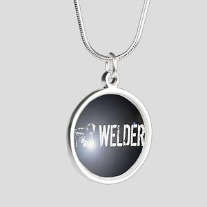 Welding: Stick Welder Silver Round Necklace
