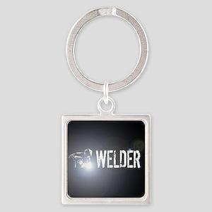 Welding: Stick Welder Square Keychain
