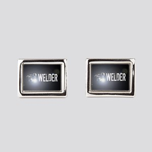 Welding: Stick Welder Rectangular Cufflinks