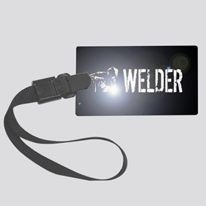 Welding: Stick Welder Large Luggage Tag
