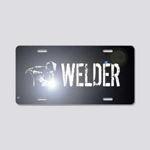 Welding: Stick Welder Aluminum License Plate