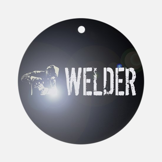 Welding: Stick Welder Round Ornament
