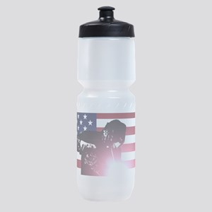Welding: Welder & American Flag Sports Bottle