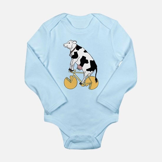 Cow Riding Bike With Cheese Wheel Wheels Body Suit