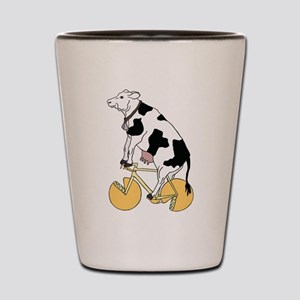 Cow Riding Bike With Cheese Wheel Wheel Shot Glass