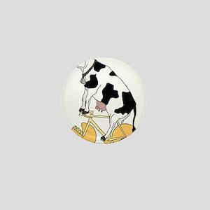 Cow Riding Bike With Cheese Wheel Whee Mini Button