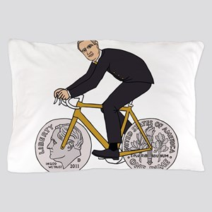 Franklin D Roosevelt Riding Bike With Pillow Case