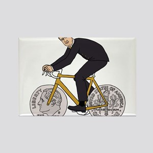 Franklin D Roosevelt Riding Bike With Dime Magnets