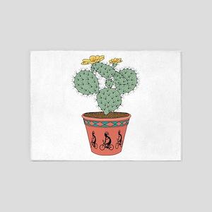 Pear Cactus Bike In Pot With Kokope 5'x7'Area Rug