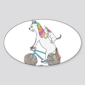 Cat Unicorn Riding Unicorn Cat Who's Ridin Sticker