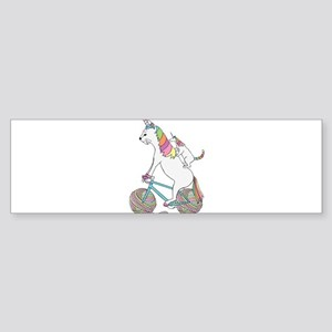 Cat Unicorn Riding Unicorn Cat Who' Bumper Sticker